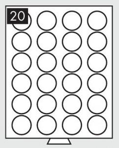 Бокс на 24 монеты 41 мм (ПОД ЗАКАЗ)