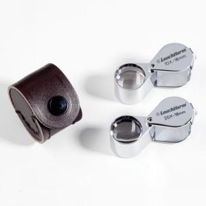 Лупа складная прецизионная 18 мм 10 кратная с футляром (ПОД ЗАКАЗ)