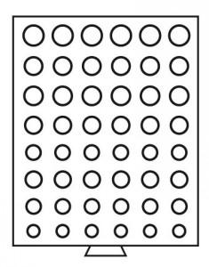 Бокс на 48 монет разного диаметра 6 наборов евро (ПОД ЗАКАЗ)