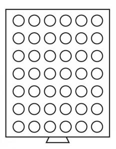 Бокс на 42 монеты 27,5 мм (ПОД ЗАКАЗ)