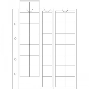 Лист-вкладыш OPTIMA 27 на 35 монет до 27 мм