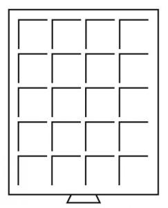 Бокс на 20 квадратных ячеек для монет 48х48 мм (ПОД ЗАКАЗ)