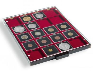 Бокс на 20 монет в капсулах QUADRUM 50х50 мм