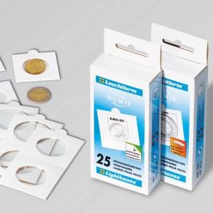 Холдеры для монет MATRIX самоклеющиеся белые 17,5 мм