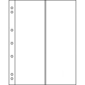 Лист-вкладыш NUMIS на 2 длинные банкноты вертикально 10 штук (ПОД ЗАКАЗ)