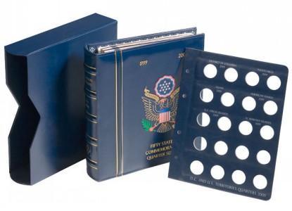 Альбом OPTIMA VISTA для квотеров Федеральные штаты с футляром (ПОД ЗАКАЗ)
