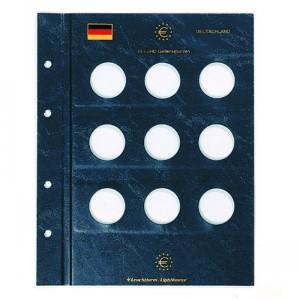 Два листа-вкладыша OPTIMA VISTA для 9 юбилейных монет 10 евро (ПОД ЗАКАЗ)