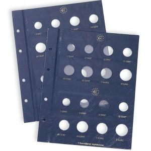 Лист-вкладыш OPTIMA VISTA для двух наборов монет евро