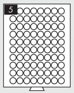Бокс на 80 монет 23,5 мм (ПОД ЗАКАЗ)