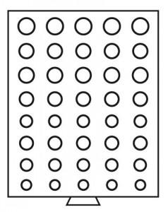 Бокс на 40 монет разного диаметра 5 наборов евро (ПОД ЗАКАЗ)