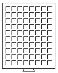 Бокс на 80 квадратных ячеек для монет 24х24 мм