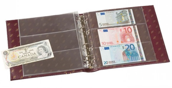 Альбом NUMIS CLASSIC на 50 банкнот с футляром (королевско-синий) (ПОД ЗАКАЗ)