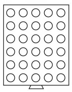 Бокс на 30 монет 33 мм (ПОД ЗАКАЗ)
