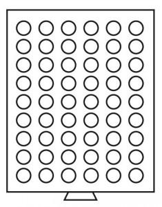 Бокс на 54 монеты 24,5 мм (ПОД ЗАКАЗ)