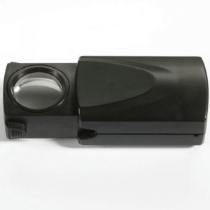 Лупа выдвижная 21 мм 20 кратная с подсветкой