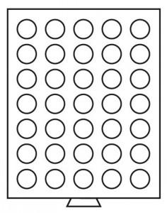 Бокс на 35 монет 30 мм (ПОД ЗАКАЗ)