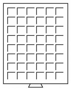 Бокс на 48 квадратных ячеек для монет 30х30 мм (ПОД ЗАКАЗ)