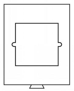 Бокс на 1 квадратную ячейку для монет 150х150 мм