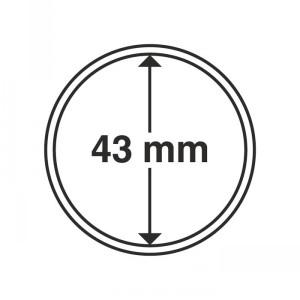 Капсула для монет CAPS 43 мм 10 штук (ПОД ЗАКАЗ)