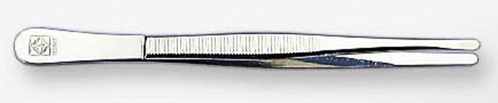 Пинцет прямой узкий стандарт 12 см