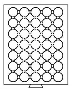 Бокс на 35 монет в капсулах CAPS 29 мм (ПОД ЗАКАЗ)