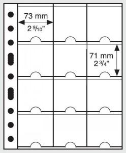 Лист-вкладыш GRANDE M12K на 12 холдеров для монет