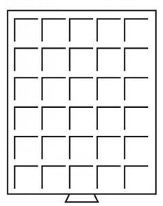 Бокс на 30 квадратных ячеек для монет 38х38 мм (ПОД ЗАКАЗ)