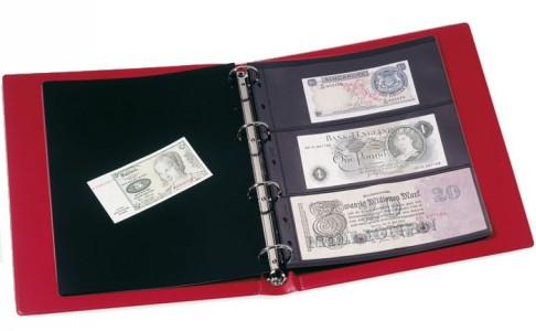 Альбом для банкнот VARIO F с 10 листами и футляром (красный) (ПОД ЗАКАЗ)