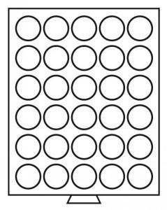 Бокс на 30 монет 39 мм (ПОД ЗАКАЗ)