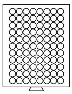 Бокс на 88 монет 21,5 мм (ПОД ЗАКАЗ)
