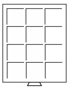 Бокс на 12 квадратных ячеек для монет 64х64 мм (ПОД ЗАКАЗ)