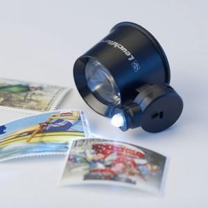 Лупа ювелирная 21 мм 10 кратная с подсветкой (ПОД ЗАКАЗ)