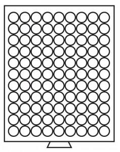 Бокс на 99 монет 20 мм (ПОД ЗАКАЗ)