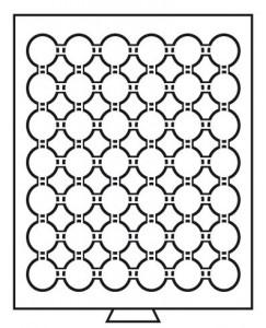 Бокс на 42 монеты в капсулах CAPS 24 мм (ПОД ЗАКАЗ)