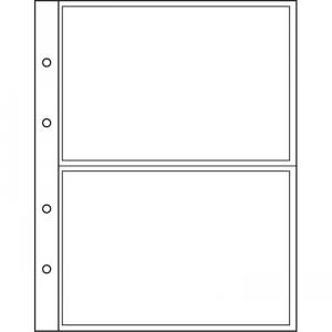 Лист-вкладыш NUMIS на 2 банкноты горизонтально 10 штук (ПОД ЗАКАЗ)