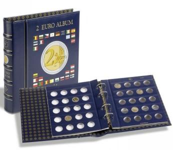 Папка-переплет OPTIMA VISTA для монет номиналом 2 Евро (ПОД ЗАКАЗ)