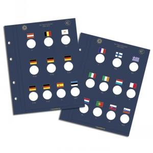 Два листа-вкладыша OPTIMA VISTA для 21 юбилейной монеты евро (ПОД ЗАКАЗ)