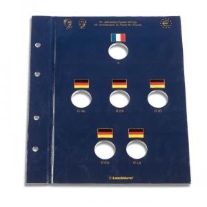 Лист-вкладыш OPTIMA VISTA для 6 юбилейных монет евро (ПОД ЗАКАЗ)
