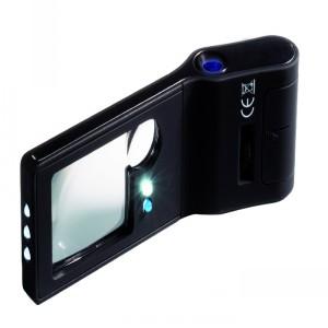 Лупа карманная 6 в 1 - 10 кратная с микроскопом и УФ-подсветкой