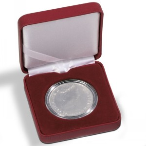 Футляр для монет NOBILE 26 мм красный (ПОД ЗАКАЗ)