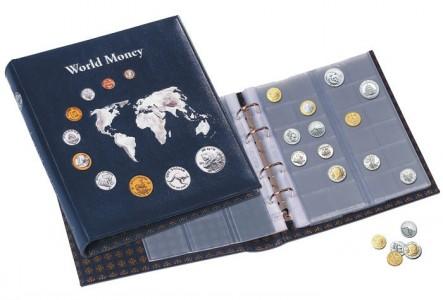 Альбом OPTIMA WORLD MONEY на 152 монеты с футляром (ПОД ЗАКАЗ)