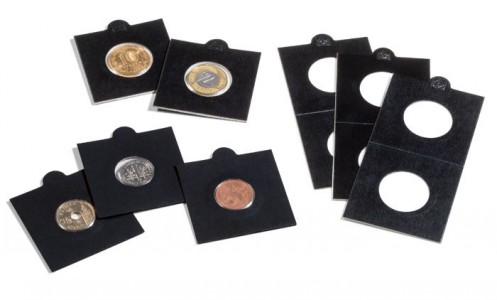Холдеры для монет MATRIX самоклеющиеся черные 17,5 мм