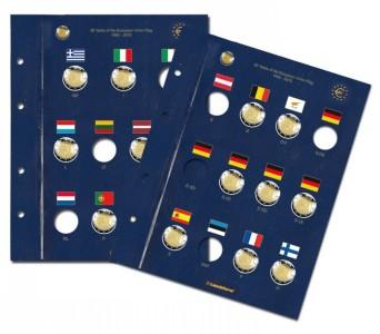 Два листа-вкладыша OPTIMA VISTA для 23 юбилейной монеты евро (ПОД ЗАКАЗ)