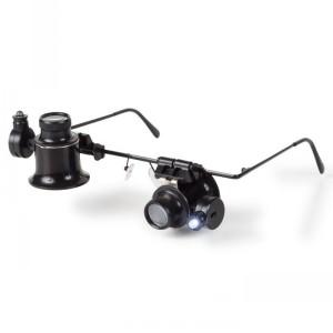 Лупа-очки бинокулярная BINOKEL 20 кратная с подсветкой