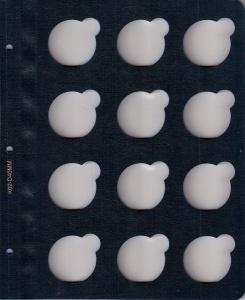 Синий лист для монет в капсулах с ячейками 40 мм (для монет 5 грн.)
