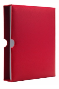 Футляр красного цвета к альбому для монет