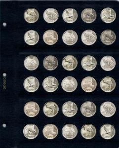 Универсальный лист для монет диаметром 25,5 мм (1 соль)