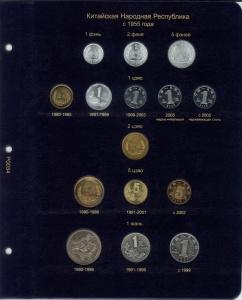 Лист для монет Китайской Народной Республики